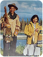Kaska First Nations on the Liard River (around 1940)