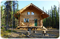 Self-contained log cabin