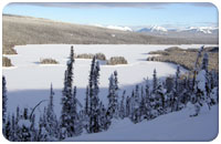 Frances Lake in winter (Lodge Bay)