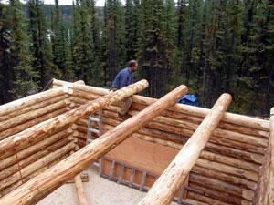 Yukon Log Cabin Construction 7