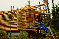 Construction of a lovely guest cabin (1988)