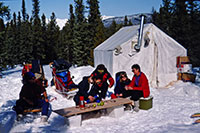 Multi-day trip with overnight stay in a heated wall tent (1993)