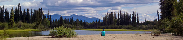 Unwind and let go out in the Yukon wilderness at Frances Lake